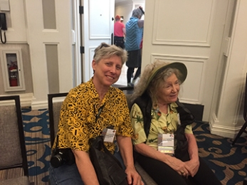 Elodie Holmes with Ginny Ruffner